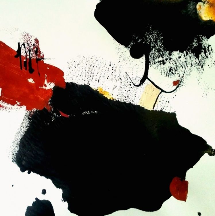 """""""Ticket for Life T2"""" - 100 x 100 cm - Isabelle Mignot (2012) exposition,  art,  abstrait"""