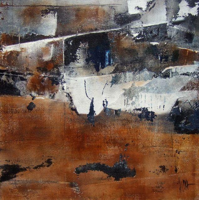 """""""Un pas de plus pour renaître"""" - 40 x 40 cm -  Isabelle Mignot (2009)"""