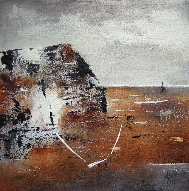 """""""Because of you"""" - Isabelle Mignot (2009) - Acrylique et matière sur toile 30 x 30 cm"""