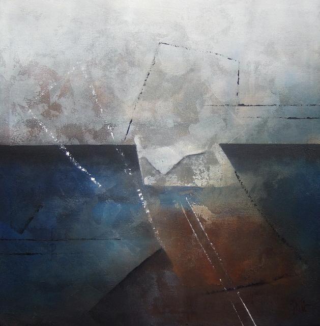 """""""Interconnexions"""" - 80 x 80 cm - Isabelle Mignot (2008)"""